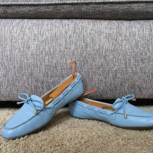 Blue Talbots Loafer Flat Ladies 6